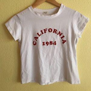 California Brandy Melville Cropped Tee😍